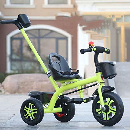 GWCD-STC Triciclos Bicicleta de Triciclo para niños 1-3-6 años de Edad Bebé Bicicleta Niño Niña Luz Bebé Cochecito Infantil Sillas de Paseo (Color : C)