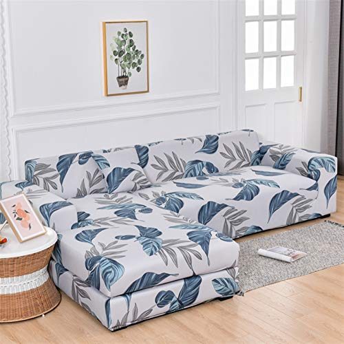 kengbi Durable and Easy-To-Clean Sofa Cover Sofa Covers ,L Shape Corner Sofa Cover Elastic For Living Room Printed Cover For Sofa Slipcovers Stretch 1/2/3/4 Seat