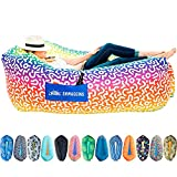 Chillbo Shwaggins Inflatable Couch – Cool Inflatable Lounger. Upgrade Your Camping Accessories. Easy Setup Inflatable Chair is Perfect for Beach Gear, Camping Fun and Festival Accessories.