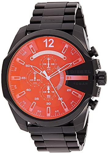 Diesel Men's 51mm Mega Chief Quartz Stainless Steel Chronograph Watch,...