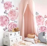 Kids Bed Canopy,Princess Hanging Mosquito Net for Baby Crib Nook Castle Nursery for Kid's Room Decor,Pink