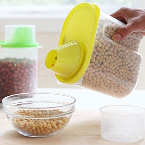 Dried Food Cereal Flour Pasta Food Storage Dispenser Rice Container Sealed Box 2.5L