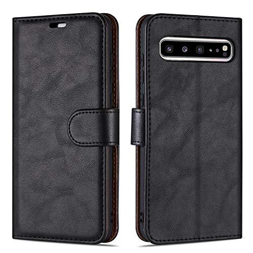 Hülle Collection Hochwertige Leder hülle für Samsung Galaxy S10 5G Hülle (6,7