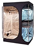 TopoLite 48'x36'x72' 2-in-1 Indoor Grow Tent Dark Room Propagation and Flower 600D Reflective Diamond Mylar Hydroponic Growing Plant