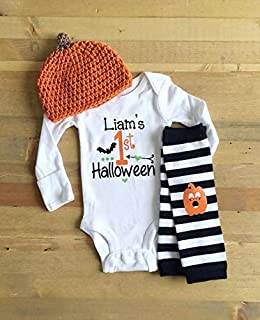 Boys 1st Halloween Outfit, First Halloween Costume, Halloween Outfit For Boys, Personalized My 1st Halloween, Newborn Boys Halloween Outfit