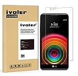 ivoler [Pack de 2] Verre Trempé pour LG X Power [Garantie à Vie], Film Protection en Verre trempé écran Protecteur vitre...