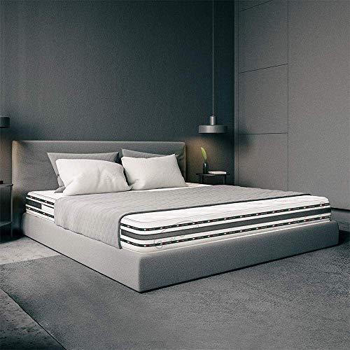Matratze Memory Bett 120x 200hoch 22cm Orthopädisch mit Medizinprodukt, mit Platte aus Memory Foam, 2cm 9Zonen und Platte aus Waterfoam 18cm