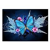 LZQZJD Puzzle 1000 Teile Unmöglich Puzzle Blau Fantasy Schmetterling 3D Puzzle Holzspielzeug Einzigartiges Geschenk Dekoration Home