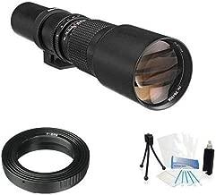 Vivitar 500mm f/8 Telephoto Lens For Canon Digital EOS Rebel SL1 (100D), T5i (700D), T4i (650D), T3 (1100D), T3i (600D), T1i (500D), T2i (550D), XSI (450D), XS (1000D), XTI (400D), XT (350D), 1D C, 70D, 60D, 60Da, 50D, 40D, 30D, 20D, 10D, 5D, Mark II, III, 1D X, 1D C, 1D Mark IV, 1D(s)Mark III, 1D(s)Mark II(N) , 5D Mark 2, 5D Mark 3, 7D, 6D Digital SLR Cameras