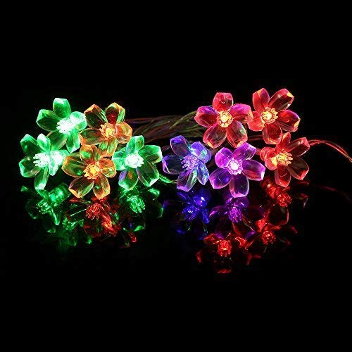 String Lights Unique 20 LED Plum Blossom Fairy Lights, Home Garden Decor Battery Lights Xmas Wedding Party Festival Stage Gift