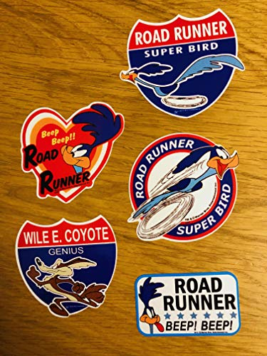 Pegatina Roadrunner Super Bird, 5 unidades, Beep V8 Coyote Decal JDM Se012