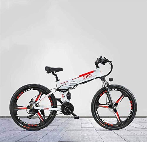 Bicicletas Eléctricas, 26 pulgadas plegable for adultos bicicleta de montaña eléctrica, batería de litio de 48V, con GPS antirrobo Sistema de Posicionamiento bicicleta eléctrica, velocidad 21 ,Bicicle