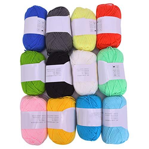 Hilo de tejer doble, madejas de hilo de ganchillo DIY para tejer y proyectos de ganchillo/Juguete de gato con pompón