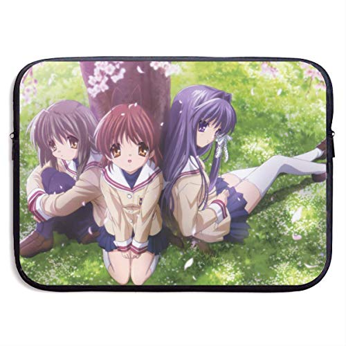 Laptop Sleeve Bag Clannad Tablet Briefcase Ultraportable Protective Canvas for 13 Inch MacBook Pro/MacBook Air/Notebook Computer BAG-259