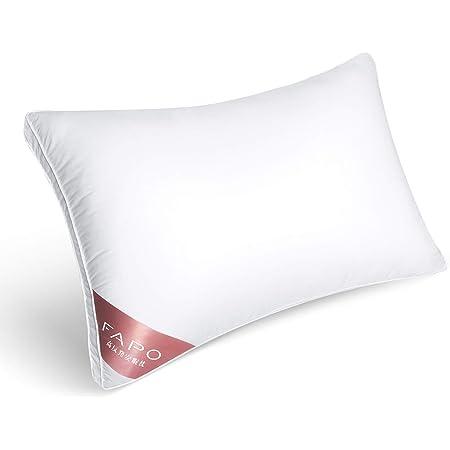 FAPO 枕 安眠 ホテル仕様 横向き対応 丸洗い可能 洗濯機対応 通気性 高反発 高さ調整可能 マクラ ホワイト 43x63cm