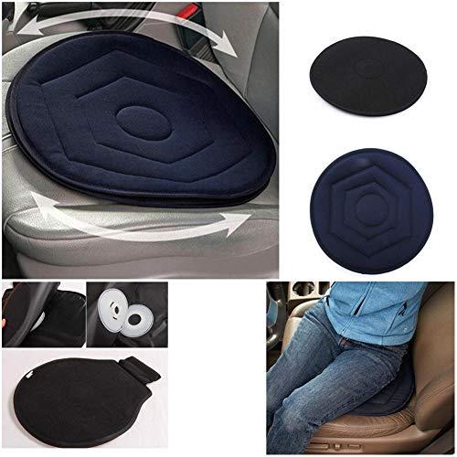 Ablerfly Rutschfestes rotierendes Auto-Sitz-Drehkissen. Gedächtnis-Schwenker-Schaum-Mobilitätshilfe-Sitzkissen Method
