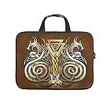 bolsa de mensajero vik-ing dragón Elegante simple funda para portátil para el profesional de negocios de viaje viaje Commuter blanco 17 zoll