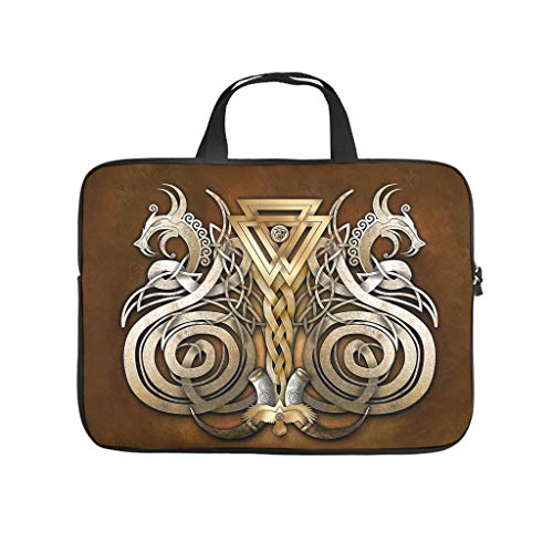 Multifunctional Viking Art Mythology Laptop Sleeve Case Protective Bag Briefcases - for Men Women Boys Girls White 12 Zoll