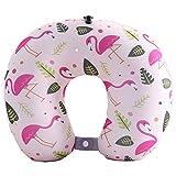 BOYANN Flamingo Mikroperlen Nackenhörnchen U-förmigen Reisekissen Bücherkissen Muster 9