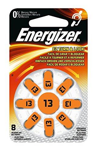 Energizer 3Stück je 8Batterien Hörgeräte Zink Air Turn & Lock N ° 13