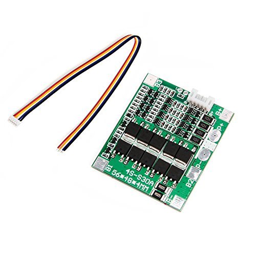 Zkee Shop 4S 12V-14.8V 30A Lithium Battery 18650 Charger Protection Board Balance Module