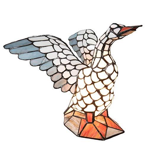 Lumilamp 5LL-5928 tafellamp tafellamp figuur lamp vogel Tiffany stijl 38 * 26 * 30 cm / E14/max 1 * 40W decoratief gekleurd glas tiffany stijl