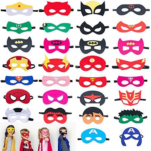 Omew Máscaras de Superhéroe, Accesorio de Fiesta Infantil