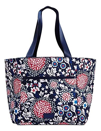Vera Bradley ReActive Drawstring Family Tote in Red, White & Blossoms