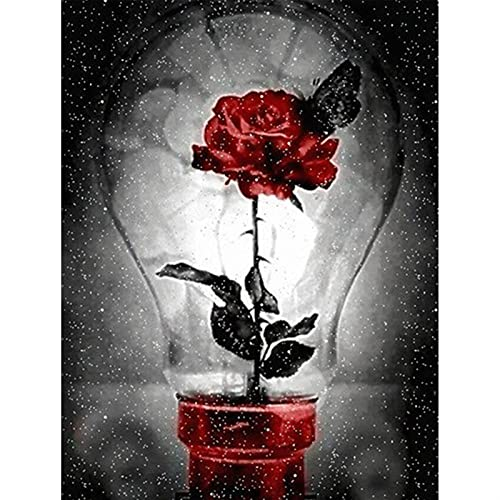 GHJGHJ Diamante Pintura Rosa Flores Imagen Bordado Punto de Cruz Mosaico Taladro Completo de la decoración de la casa Pegatinas de Pared Regalo Hecho a Mano (Color : 257, Size : Round Drill 60X80cm)
