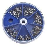Yeucan 116Pcs Split Angelringe für Crank Hard Silver Bait Double Open Loop Angelwerkzeug Zubehör