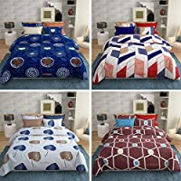 VYBBA Premium BEDSHEETS for Double Bed || 152 TC Glace Cotton Double BEDSHEET with 2 Pillow Covers King Size ( Combo of...