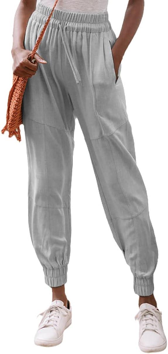 Grlasen Women's Cotton Sweatpants Pants Women's Casual Summer Lo