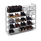 Relaxdays Schuhregal mit 5 Ablagen, Schuhablage für 20 Paar Schuhe, beliebig erweiterbar, HxBxT:...