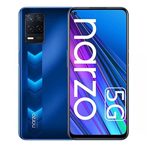 Realme Narzo 30 5G Smartphone 4GB + 128GB, Dimensity 700 5G, Triple Camera 48MP, 5G Cellulare 6.5    90Hz, Batteria 5000mAh, 18W Fast Charge, Android 11, Dual Sim + Micro SD, Versione EU