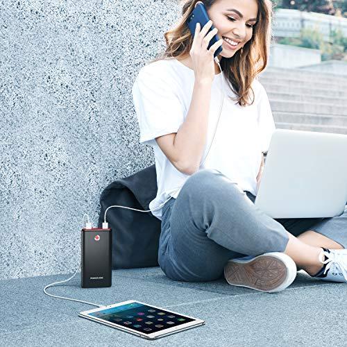 【2020改善版】モバイルバッテリー20000mAhPoweraddPilotX7モバイル・バッテリー大容量急速充電3.1A出力2USBポート二台同時充電PSE認証済スマホ充電器携帯充電器旅行/出張/アウトドア活動用に最適緊急用防災グッズiPhone/iPad/Android各種対応(ブラック+レッド)