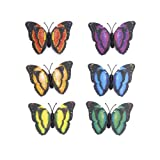 6pcs Two-Layer Butterfly Magnets for Refrigerator Home Decoration
