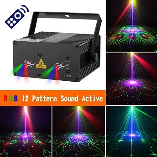 Bühnenlampen 01 Fernbedienung Haushalts Disco Licht Blitzlicht Multi-Mode-Blitzbühne Projektionslichter Club Bar Lichter