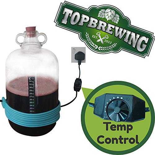 TopBrewing/™ Heat Belt Pro with Variable Temperature Control ☆ Perfect for Brewing Fermenting Home Brew Beer Wine Cider and Kombucha ☆ Free Thermometer ☆