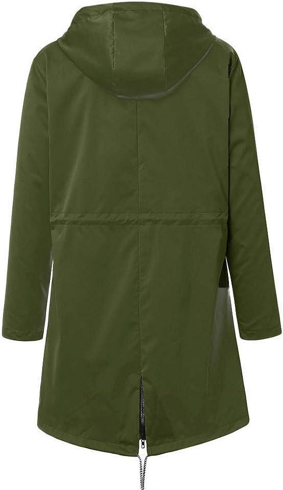 PRETTYEST Damen Mantel Softshellmantel Übergangsmantel Wasserdichter Mantel Outdoorparka Jacket Grün