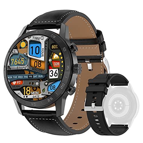 DTNO.I Smartwatch 1,39'' IPS Pantalla a Color Completa con llamadas Bluetooth y Contraseña de Reloj Fitness, 4 Estilos de Lista y Más de 20 Características Reloj Inteligente para Android e iOS (Negro)
