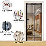 AKEFG Cortina mosquitera Doble magnetica Puerta Exterior, Mosquitera Puerta corredera Lateral con iman para terraza/habitacion Fácil de Instalar,90 * 210cm(35 * 82in)