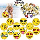 HOWAF 12 'Emoji Pelota Hinchable Pelotas de Playa Playa Piscina Juguete y Emoji Tatuajes...