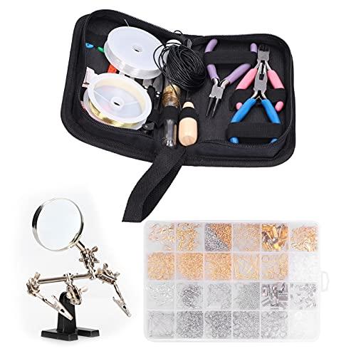 Herramienta de reparación de joyas, kit de fabricación de pulseras mutacionales de hierro + ABS con bolsa con cremallera para bricolaje para mujeres