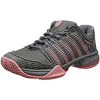 K-Swiss Performance Hypercourt Express HB, Zapatillas de Tenis para Mujer, Multicolor (Steel Grey/Calypso Coral/Flamingo Pink), 39 EU