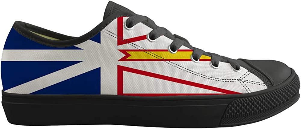 Classic Sneakers Unisex Adults Low-Top Trainers Skate Shoes Newfoundland and Labrador Flag