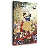 Grimm's Märchen Schneewittchen Poster auf Leinwand,