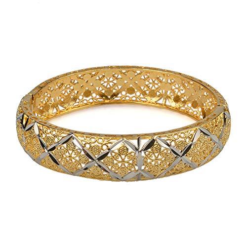 6 cm / 2,36 zoll Äthiopischen Armreif Für Frauen Gemischt Silber & Gold Farbe Dubai Hochzeit Armband Afrikanischen Arabischen Schmuck