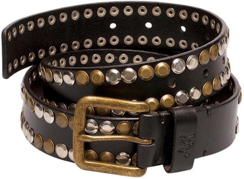 Anne Kokke Unisex vintage black punk leather studs belt (Special Edition)