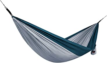 Double Hammocks Camping Hammock Portable Beach Swing Bed Outdoor with for Travel Beach Backyard (Color : Gray)