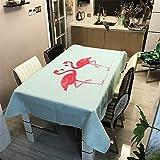 Morbuy Manteles de Mesa Cuadrada/Rectangular de Tela,Impermeable Antimanchas 3D Impresión Mantel Prueba de Polvo Lavable para Hogar Cocina Salón Jardín Fiesta (Rosa Flamenco,100x140cm)